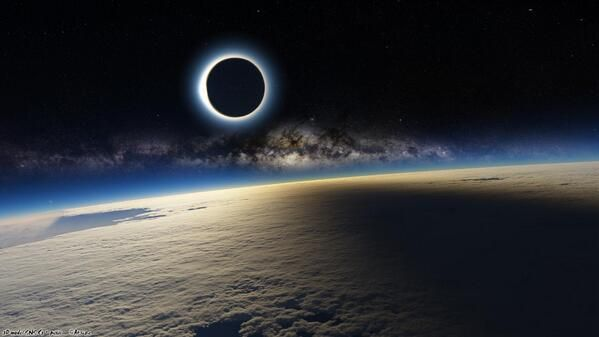 March 2015 Solar eclipse as seen from the International Space Station