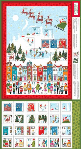 Christmas Wonderland Advent Caledar by MysewingboxUK on Etsy