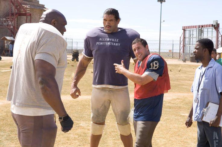 Adam Sandler, Chris Rock, Bob Sapp,  and Dalip Singh in The Longest Yard (2005)