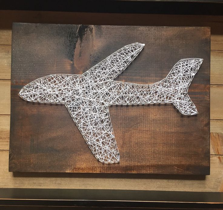 A personal favorite from my Etsy shop https://www.etsy.com/listing/264013647/made-to-order-airplane-string-art
