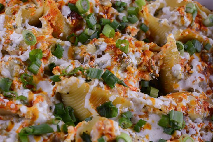 Paleo Chicken-Stuffed Shells with Sherry Sauce