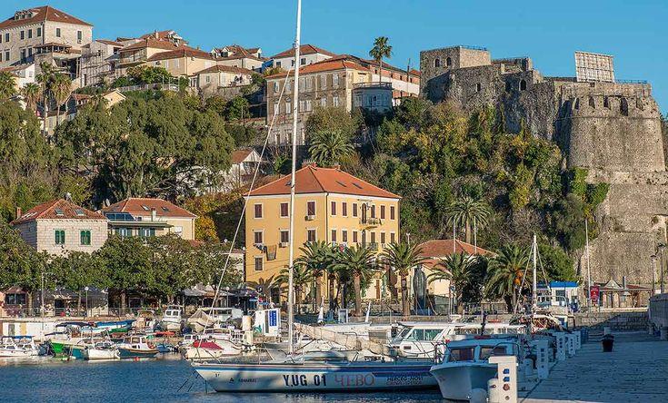 Mediterreanean town at mouth of Bay of Kotor - Hotel Novi, Herceg Novi, Montenegro -