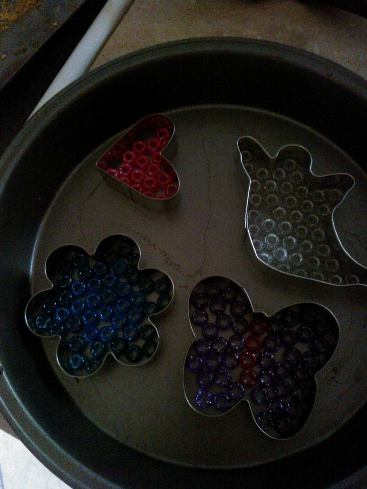 Different cookie cutter bead melts