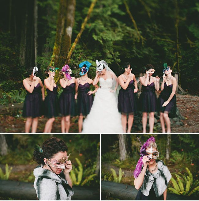 masquerade wedding! are you kidding me!! so awesome!! This is something I so would've done. great pictures.