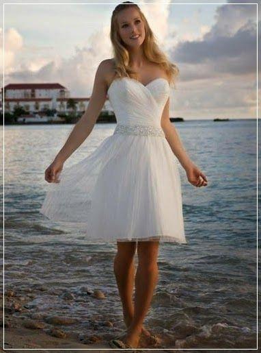 New Beach Simple Organza Bridal Wedding Dress Sweetheart Neckline with A Line Short Skirt
