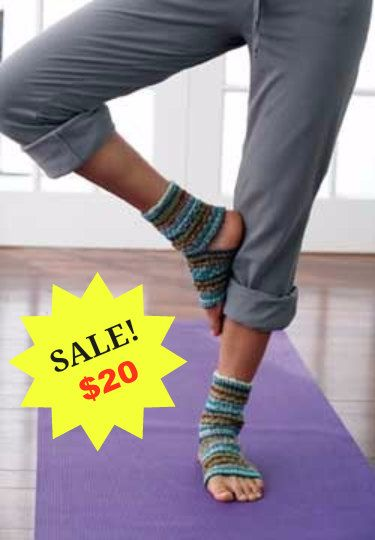 YOGA SOCKS! Great Yoga Gear! These unique hand made knitted yoga socks keep your feet warm and pliable both during practice and around the house. Enhances smoothness and fluidity to your transitions while keeping your feet warm and allowed to breathe.  Our Yoga Socks are machine washable and available in 12 great colours to coordinate with your yoga wear. These are hand knitted with love, made to order and shipped to you within 1-2 weeks. Namaste  Please Favourite our Etsy Store by clicking…
