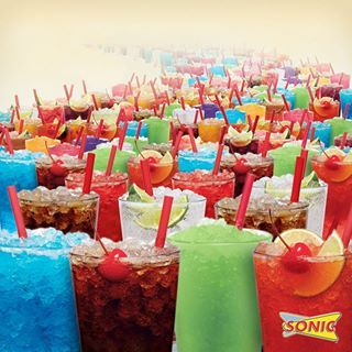 I want the blue coconut, the peach ring, and the Polynesian punch