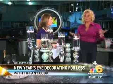 Gorgeous New Years Eve decor & party ideas by Tiffany Nieves-Cook on NBC Live