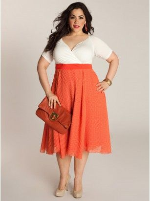 Best 25+ Polka dot plus size dresses ideas on Pinterest | Women\'s ...