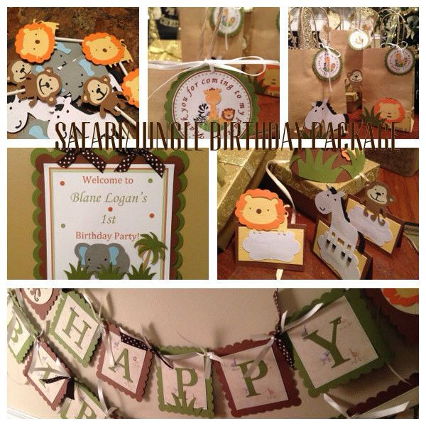 Safari or Jungle Theme Complete Party Package