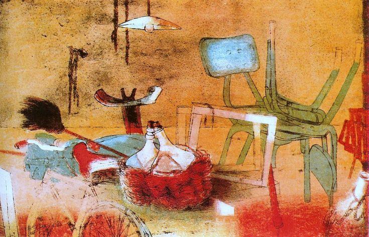 Eva FISCHER, artista e donna pasionaria, dopo la Guerra - la prima - scelse Roma come città d'elezione, qui condividendo molte esperienze artistiche nella celebre via Margutta con grandi colleghi:  http://www.artapartofculture.net/2015/07/07/eva-fischer-pasionaria-dazione-e-di-pittura/