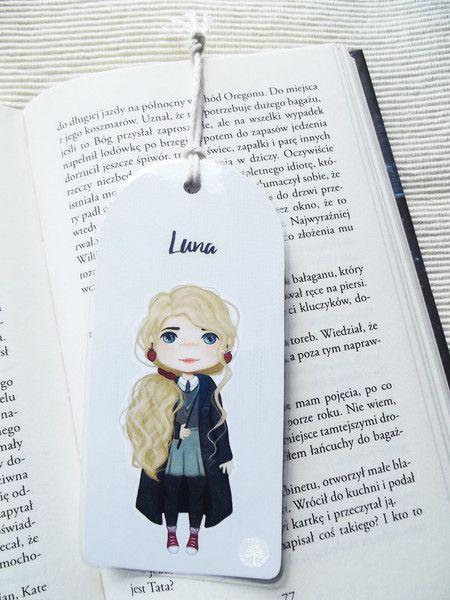 Zakładka do książki- Luna - tojkocarre - Zakładki do książek z papieru