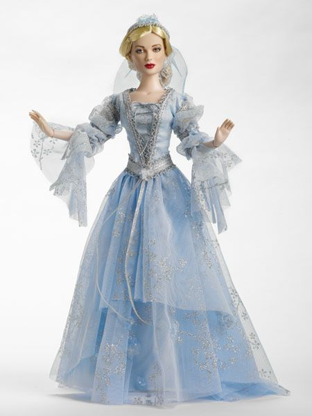 """The Capulets Daughter Outfit  Outfit Only  • Fits 16"""" Tyler Body  • Blonde Saran Wig  • Blue Gown  • Silver Trimmings  • Veiled Juliet Cap  • Pantyhose  • Faux Suede Pumps  • LE 150"""
