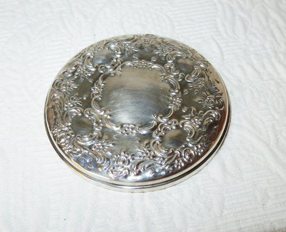 Vintage Sterling Silver Compact Mirror Towle Sterling Silver Ornate Embossed Hand Mirror Vanity Dresser M Compact Mirror Vintage Sterling Silver Vanity Box
