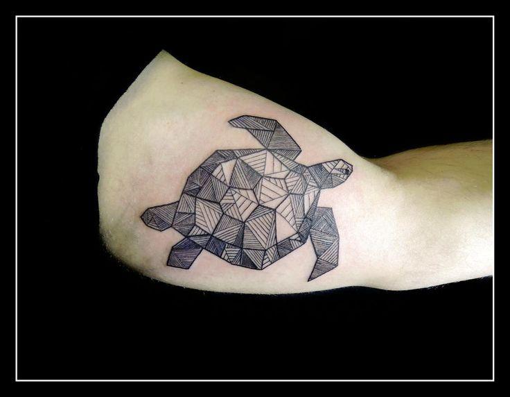 geometric turtle tattoo - Google Search