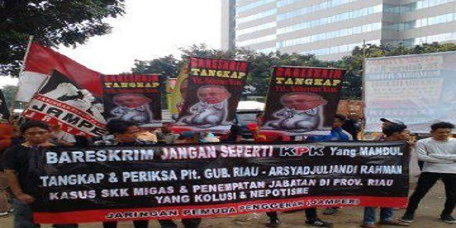 JAMPER Desak Bareskrim Polri Untuk menahan Plt Gubernur Riau