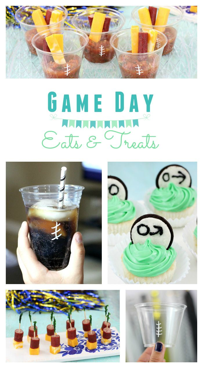 Fun Game Day Food Your Family will Love. From cheesy goodness to cool football drinking cups.  via @dawnchats