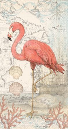 Flamingo Pattern, Flamingo Bird, Pink Bird, Pink Flamingos, Flamingo Decor,  Flamingo