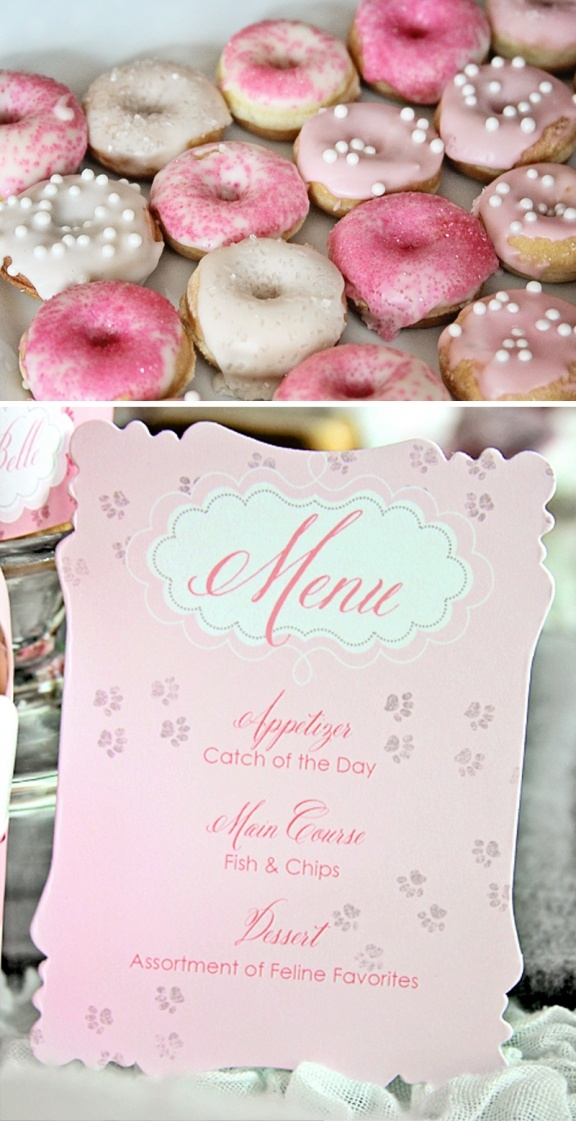 Kitty Cat Party by Loralee Lewis...darling mini pink doughnuts