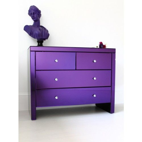 #mirroredchestofdrawers in Purple from #outthereinteriors