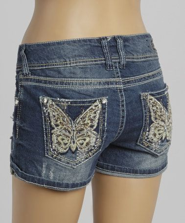 Look what I found on #zulily! Jane Butterfly Bling Curvy Denim Shorts by WallFlower Jeans #zulilyfinds