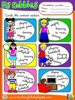 Hobbies - Worksheet 3