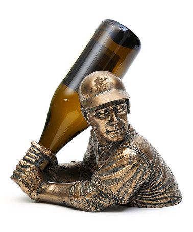 For the wine connoisseur's man cave, I suppose? Baltimore Orioles Bam Vino Bottle Holder #zulily #zulilyfinds
