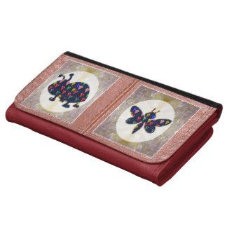 Leather Wallet  Bumble Bee Bumblebee Dragonfly fly
