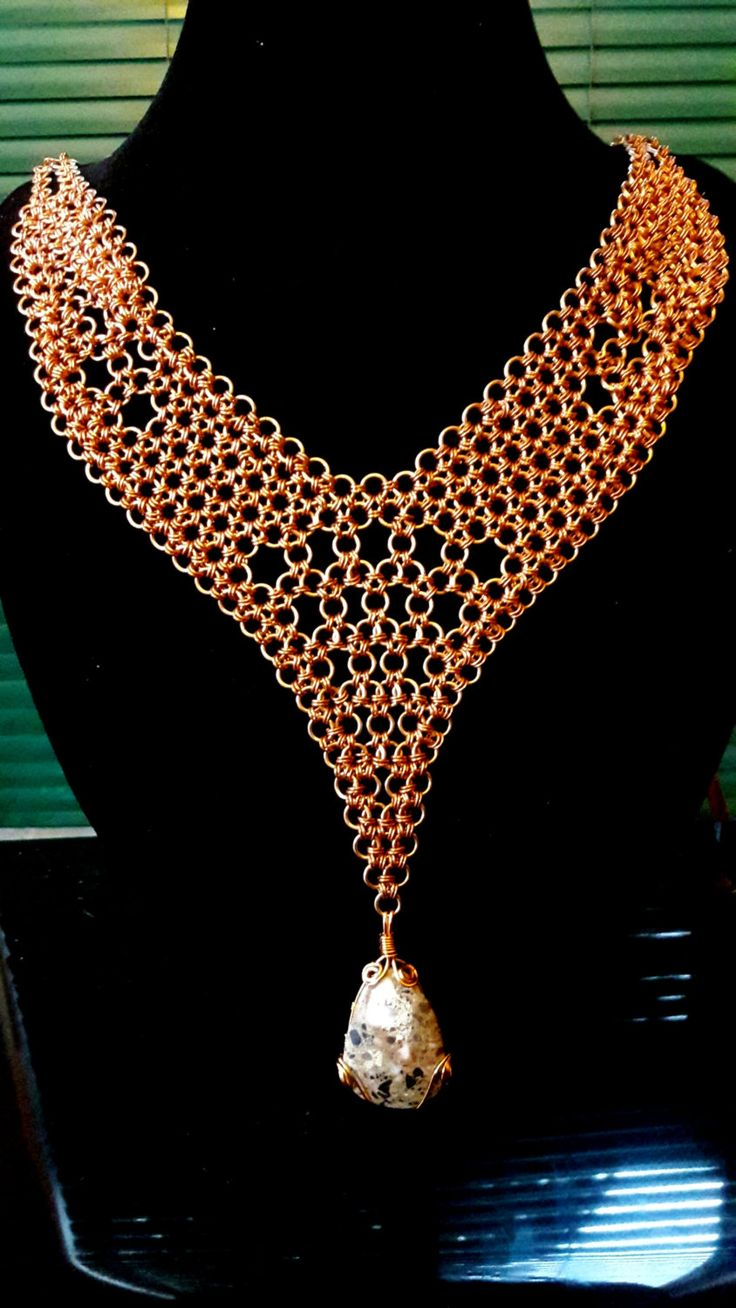 Copper On Bronze Chainmail by ExceptionalDesigns13 on Etsy