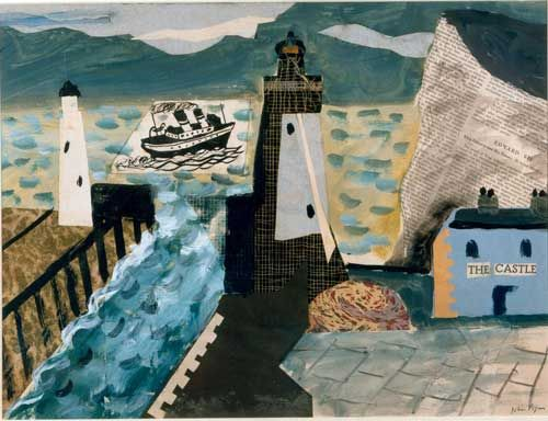 John Piper. Paint, collage, paint.