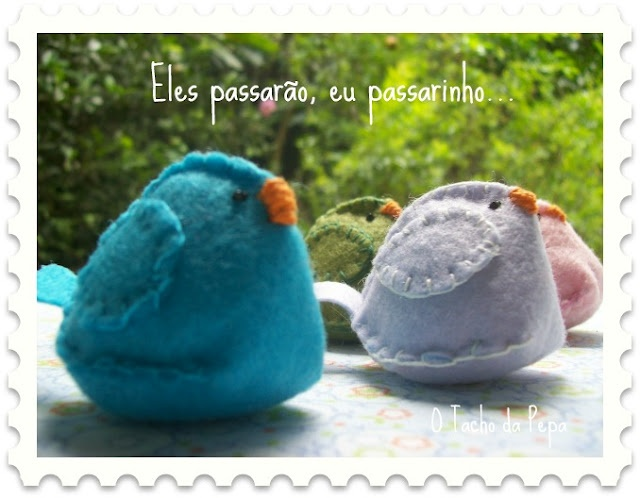 passarinhos de feltro com molde: Craft, Felts, Da Te, Felt Birds, Crafts
