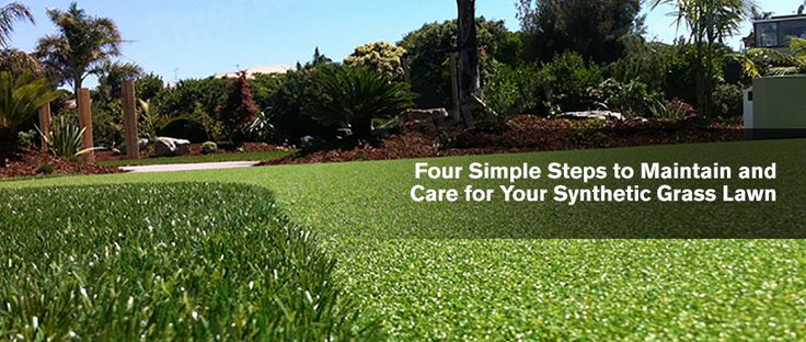 Four Simple Steps to Maintain and Care for Your Synthetic Grass Lawn
