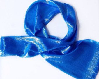 Birthday Gift for HER, Cobalt Blue Silk Long Scarf, 58X9 Sparkly Sapphire Blue Scarf, Blue long scarf, Handmade Gift Teacher, Blue Bow Scarf by blingscarves. Explore more products on http://blingscarves.etsy.com
