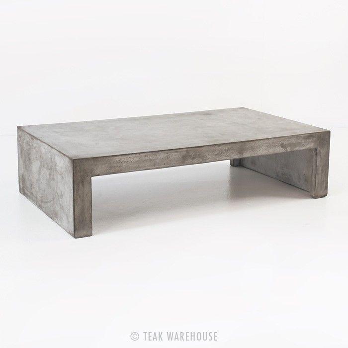 Blok Concrete Waterfall Coffee Table