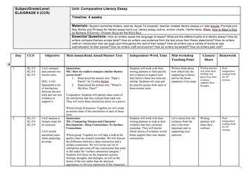 literary essay checklist