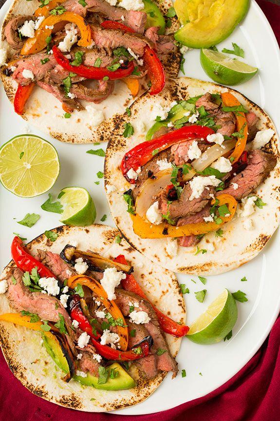 Grilled Steak Fajitas - Cooking Classy