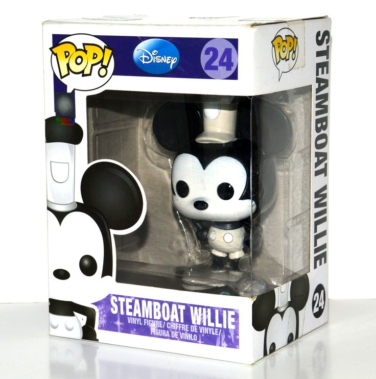 Funko Pop Disney Steamboat Willie Vinyl Figure #24 Retired Rare