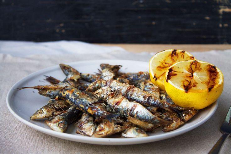 Grillede sardiner med citron