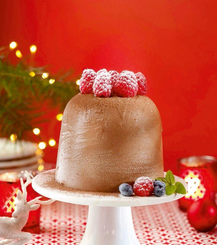 Chocolade-nougat ijstaart