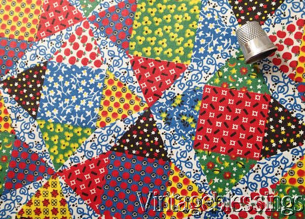 66 best Cheater Prints images on Pinterest | Patchwork, Vintage ... : cotton fabric quilting - Adamdwight.com