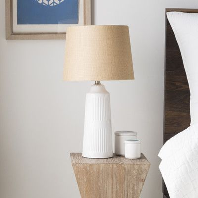 "Beachcrest Home Barnsley 23"" Table Lamp Base Color: White"
