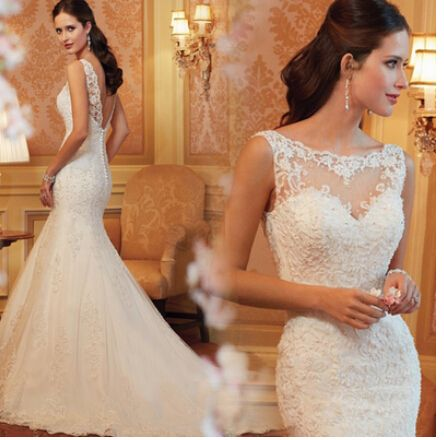 Купить товарЭлегантный темперамент кружева цветы русалка свадебное платье вышитые рукавов спинки хвостохранилища тонкий свадебное платье в категории Свадебные платьяна AliExpress.                                  Добро пожаловать в мой магазин                                           Нет гото