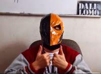 Deathstroke Costume Mask DIY Cardboard (free PDF template)