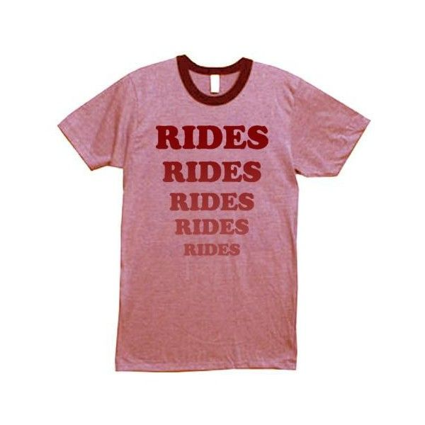 Adventureland RIDES T-Shirt superbad Movie Promo Tee ❤ liked on Polyvore featuring tops, t-shirts, shirts, t shirt, red t shirt, red top, t shirts, red tee and shirts & tops