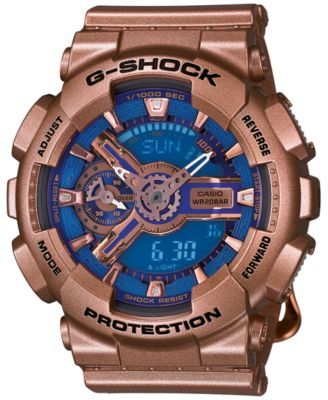 G-Shock Women's Analog-Digital Gold-Tone Resin Strap Watch 49x46mm GMAS110GD-2A