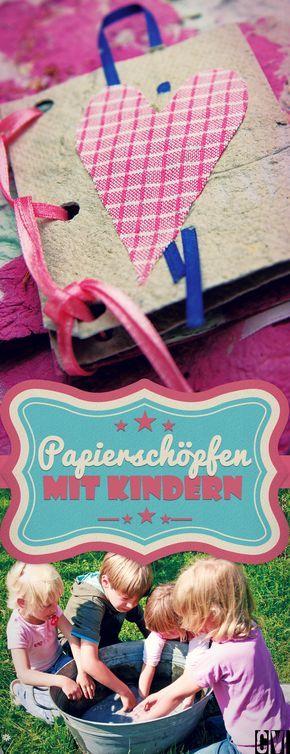 Papier schöpfen und daraus Karten und Heftchen basteln: zum Verschenken und Behalten. I © 2015 Christophorus Verlag