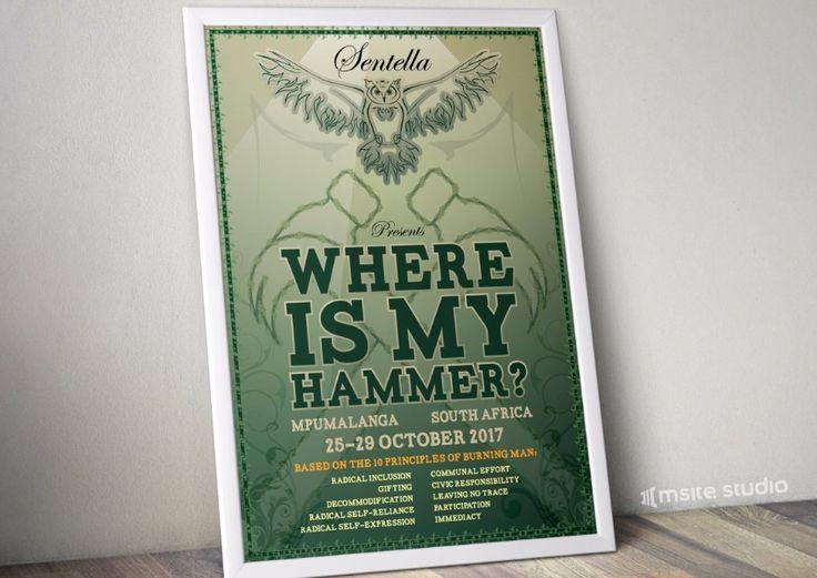 A poster I designed for Sentella - A festival Based on Burning Man | MSite Studio