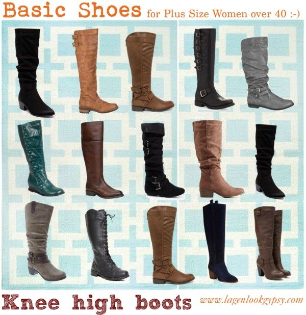 Basic Shoes for Plus Sizes over 40 - Knee high boots