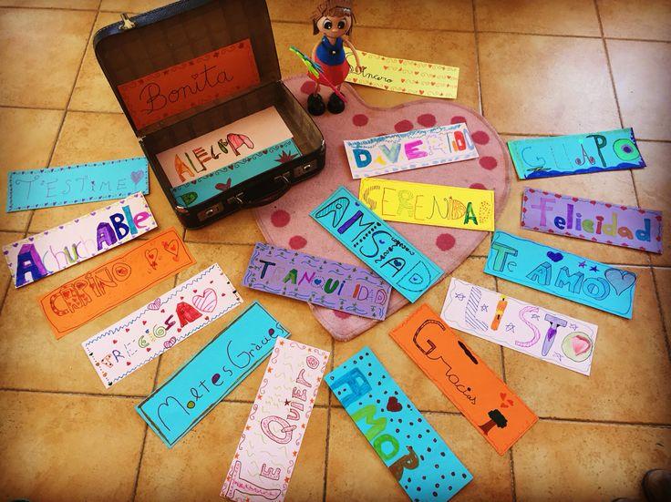 La maleta de las palabras bonitas. Proyecto de emociones.