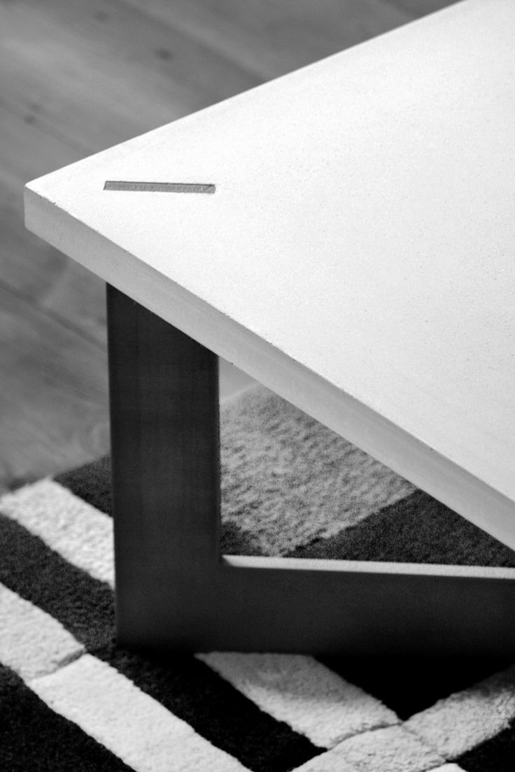Bespoke cast concrete coffee table. By Design+Weld in collaboration with Leigh Cameron.